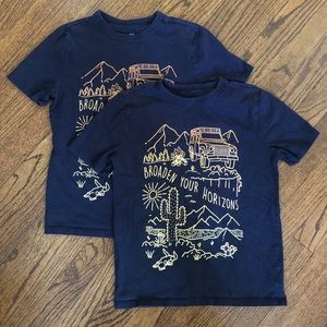 2 x Gap Navy T-Shirts.